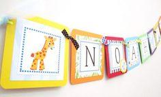 Noah's Ark Banner for Birthday or Baby Shower Decoration | adorebynat - Seasonal on ArtFire