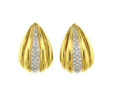 18K Gold Diamond Hinged Earrings Featured in our upcoming auction on November 3!