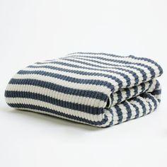 striped throw