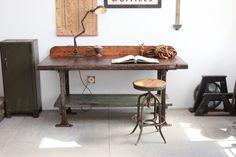 Vintage Industrial 6' Long Antique Workbench/ by DorsetFinds
