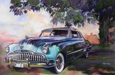 Buick Roadmaster Dynaflow 1949 Painting by Mike Hill - Buick Roadmaster Dynaflow 1949 Fine Art Prints and Posters for Sale