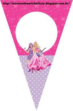 Barbie Princesa e a Pop Star Joint Birthday Parties, Barbie Birthday Party, Barbie Party, Birthday Fun, Barbie Rock Star, Fete Audrey, Barbie Decorations, Pop Star Party, Barbie Cartoon