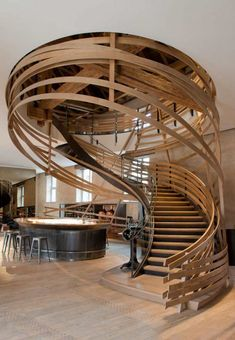 This staircase is in a restaurant but I want it in my home! Best Restaurant: Les Haras (France) / Jouin Manku The 2014 Restaurant & Bar Design Award winners. Bar Design Awards, Architecture Design, Beautiful Architecture, Stairs Architecture, Architecture Restaurant, Architecture Interiors, Art Interiors, Creative Architecture, Architecture Awards
