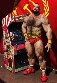 Well he's back coming to Street Fighter Capcom announced, Big Bad ass Zangief — an OG of the franchise since 1991 may look familiar in Zangief's . Cosplay Characters, Video Game Characters, Super Nintendo, Street Fighter Characters, Super Street Fighter, 3d Fantasy, Retro Gamer, Gay Art, Video Game Art