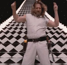 New trending GIF tagged dancing, jeff bridges, the big lebowski, funny movie, funny dancing via Giphy Jeff Bridges, The Big Lebowski, Friday Gif, Friday Weekend, Dudeism, Happy Brithday, Gif Dance, Color Test, Movies