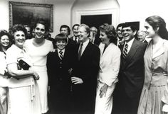 On April 3, 1980 Julian Nava became the first Mexican-American appointed U.S. Ambassador to Mexico under the Carter Administration. He was sworn in at the White House with his family present, as shown in this photograph. Julian Nava Collection.