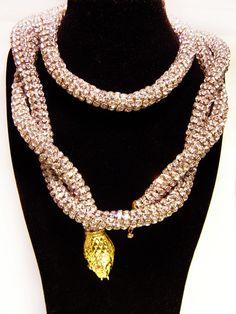 Vintage Kenneth Jay Lane Snake Rhinestone Belt/Necklace | Collectors Weekly