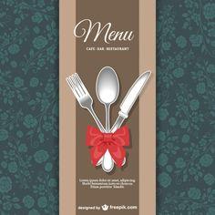 Menú de restaurante con diseño floral Vector Gratis