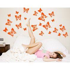 Style and Apply Butterflies Wall Decal Art Home Decor ( 24in x 17in)
