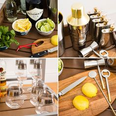 One Modern Bar Cart, Three Ways To Use It!
