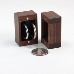 Walnut Ring Box Wedding Ring Box Engagement Ring by JMCraftworks
