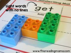 sight word cards with no lines for handwriting mats #spellingandhandwriting #spelling #and #handwriting Lego Letters, Spelling And Handwriting, Grilling Gifts, Gifts For Photographers, Practical Gifts, Word Work, Sight Words, Creative Gifts, Learning Activities