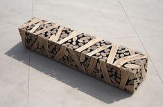Log Terrine as a bench by Lee Jae