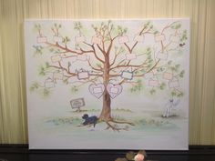 My family tree art by Ruby Rose shabby chic boutique on facebook! Large customised tree