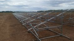 Frames in place in the field  #solarfarm #greenbuiltenergysolutions #solarpower