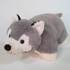 Plushez Rusty Husky Pet Cushion Animal Pillow ** You can find out more details at the link of the image.