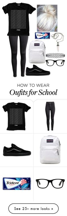 """RTD"" by xxghostlygracexx on Polyvore featuring H&M, Vans, JanSport and New Look"