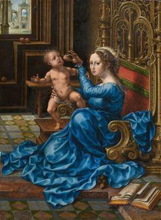 Gossaert, Jan, Netherlandish, c. 1478 - 1532 Madonna and Child c. 1532 oil on…