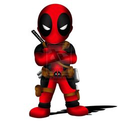 Deadpool Chibi by ~ExoroDesigns - next tattoo. Oh yes, it will be mine.