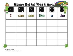 Agreeable miss kindergarten literacy center ideas on little miss kindergarten rainbow roll write sight words nds Sight Words, Sight Word Practice, Sight Word Games, Sight Word Activities, Learning Activities, Teaching Ideas, Spelling Activities, Educational Activities, Teaching Reading