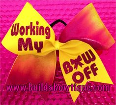 Working My Bow Off- Tie Dye: Rhinestone Cheer Bows, Sequin, Glitter, Monogram & Custom Cheer Bows
