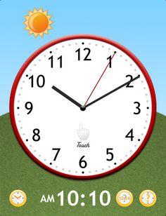 Feel Clock: hodiny s posuvnými ručičkami v podobě pro iPad, na pozadí se mění den a noc.