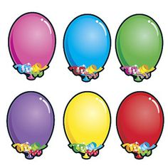 Bright Balloons   Accent Cards Birthday Celebration, Birthday Gifts, Personalized Stickers, Classroom Themes, Special Day, Easter Eggs, Birthdays, Bright, Drawings