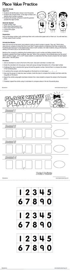 Get ready for 4th grade with Lakeshore's FREE Place Value Practice printable! #AreYouReady?