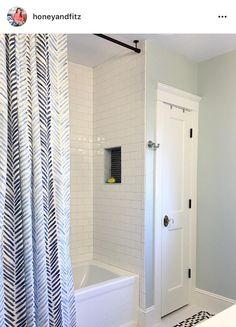 Hanging a shower rod from ceiling