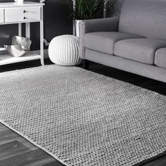 Shop nuLOOM Handmade Casual Braided Wool Area Rug - On Sale - Overstock - 10708020 - 6 x - Light grey Light Grey, Rug Sale, Rugs, Braided Wool Rug, Wool Area Rugs, Grey Carpet, Nuloom, Light Grey Area Rug, Grey Flooring