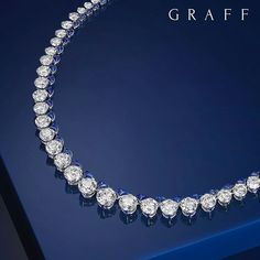 @graffdiamonds. A timeless icon: A fabulous diamond necklace consisting of pure round white diamonds and sapphires in the shape of Graff's timeless icon (Diamonds: 42.55cts, Sapphires: 8.97cts) #GraffDiamonds #Sapphires #Cabochon #Diamonds #DiamondNecklace #FineJewellery