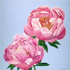 'Peonies' by British acrylic artist Diane Holmes.