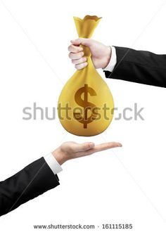 Image result for with 2 hands bag of money