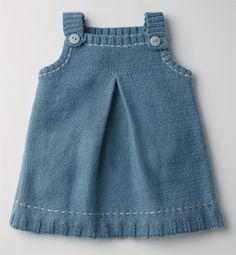 knitting for kids Girls Knitted Dress, Knit Baby Dress, Knitted Baby Clothes, Baby Cardigan, Baby Jumper, Baby Knitting Patterns, Knitting For Kids, Baby Patterns, Crochet Baby