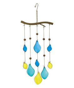 Pears Glass & Metal Hanging Chime #zulily #zulilyfinds