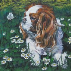 Cavalier King Charles Spaniel in Art - CANVAS by TheDogLover