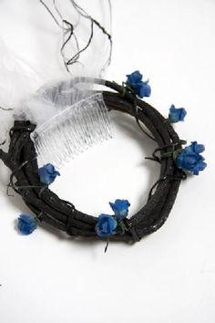 Corpse Bride Wedding Headpiece at DeconstructressDesigns.com