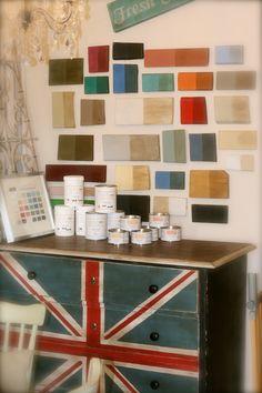 Annie Sloan Chalk Paint Furniture | The display of Annie Sloan's Chalk Paint and wax.