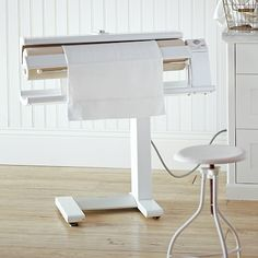 If I actually ironed things at home, I'd totally use this every day. It looks fun!! Miele Rotary Iron #williamssonoma