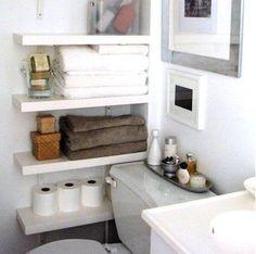 Added storage in bathroom