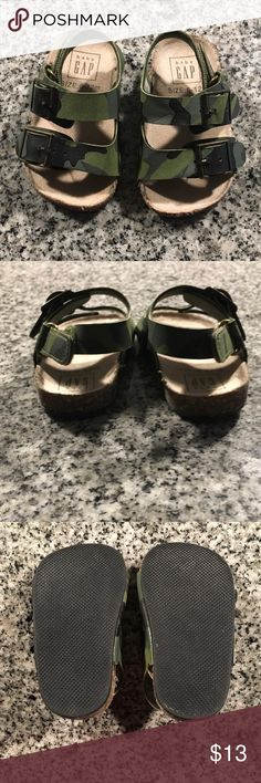 9323929567f0 Gap Baby sandals Camo Gap Baby sandals. Velcro back. Excellent condition.  Size 6