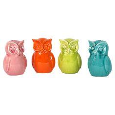 4 Piece Owl Bank Set