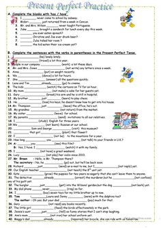 Simple Present, Subject-verb agreement, Asking questions. | Esl ...