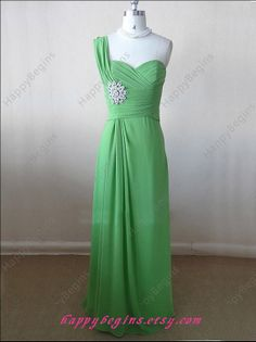 Light green bridesmaid dresses cheap bridesmaid by HappyBegins, $89.00