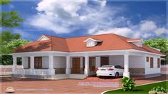 Kerala Style 4 Bedroom House Plans Single Floor (see description) Contemporary House Plans, Modern House Plans, Modern House Design, Craftsman Bungalow House Plans, Craftsman Bungalows, Village House Design, Kerala House Design, Four Bedroom House Plans, Dream House Plans