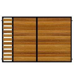 Modern gate design constructed using Iroko hardwood or Western Red Cedar.