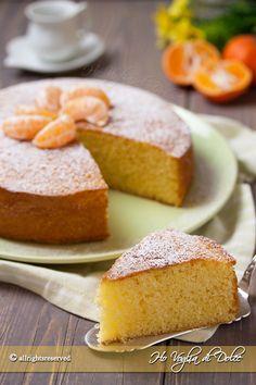 Torta di mandarini e yogurt, ricetta dolce sofficissimo e genuino per la colazione e la merenda. Una torta autunnale con agrumi facile e veloce da preparare