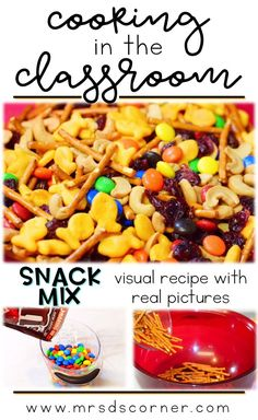 Snack mix recipe for
