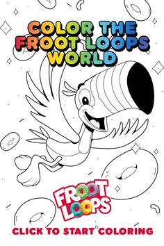 Follow your nose with Toucan Sam and help your kids color in the Froot Loops World. Check out more fun activities and recipes on our Pinterest page Free Adult Coloring, Coloring Sheets For Kids, Coloring Pages, Bff Drawings, Art Drawings Sketches, Happy Good Morning Quotes, 7 Arts, Froot Loops, Cartoon Clip