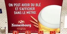 #pub #brand #beer #print #liveyoung #advertising #ad #publicité #communication #metro #campaign #blé #kronenbourg #bière #affiche